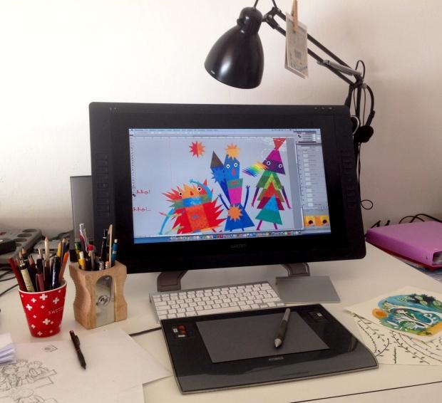 excolorificio il tavolo dell'illustratore