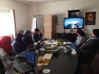 Illustration workshop at Tamer Institute, Ramallah