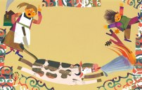 Illustrazione di una fiaba per la raccolta di Sarmede-Panini 2015
