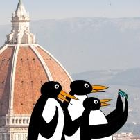 Locandina per un convegno di pediatria a Firenze
